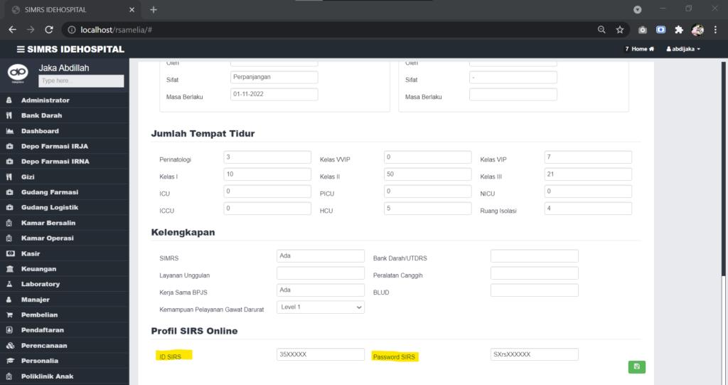 Setup header webservice pada SIMRS IdeHospital